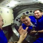 Tim meets rest of crew on ISS