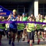 Marathon Man at finishing line