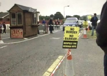 Protests Against Brexit at Irish Border Counties