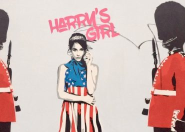 Prince Harry's girlfriend makes street art