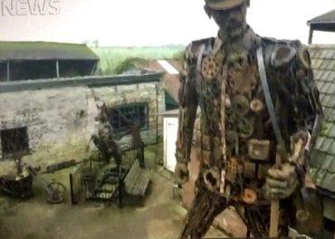 Scrap metal Soldier ITV News