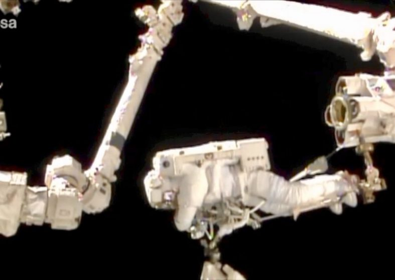 Thomas Pesquet Prepares for Spacewalk