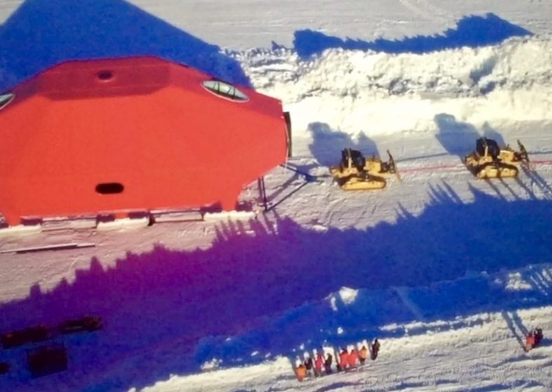 British Antarctic's Research Station on tow