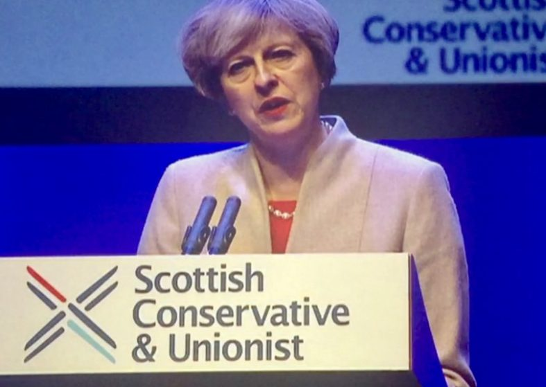 PM Theresa May in Scotland Talking Unity