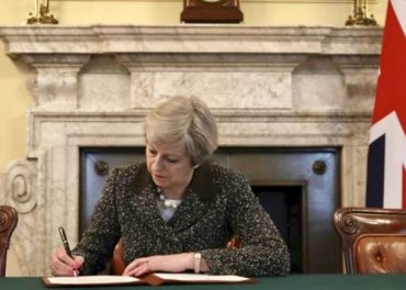 PM signs Brexit letter