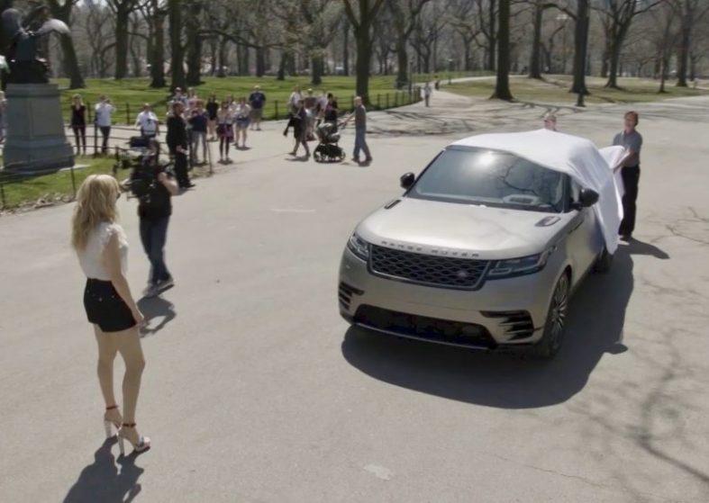 Ellie Goulding Drives New Range Rover Velar in New York