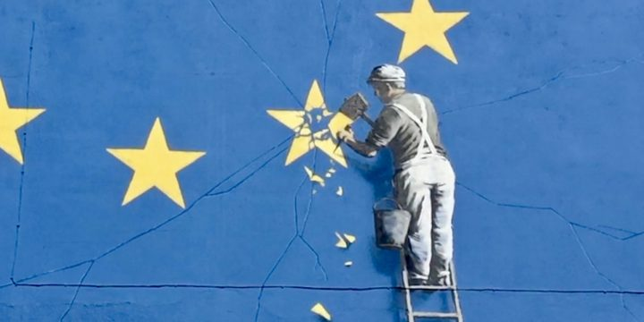 Banksy brexit mural to be sold fans just love it for Banksy mural sold