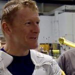 Tim Peake helps with training