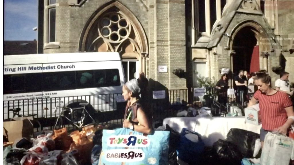 Food Toys Clothes for Fire Victims