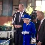 Royals talk to volunteers
