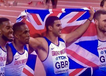 Great Britain Win Gold Usain Bolt Falls