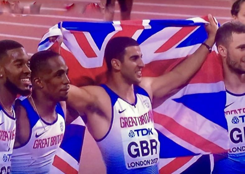 Great Britain Win Gold Usain Bolt Falls