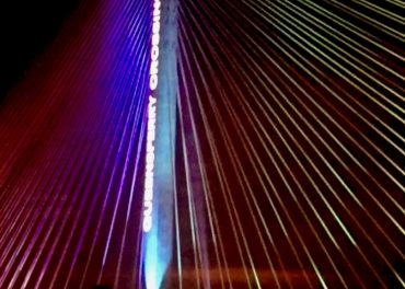 Queensferry Crossing Lit Up Ahead of Opening