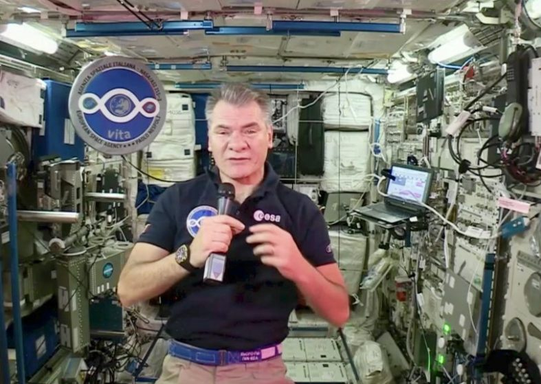Pope Calls Paolo Nespoli on ISS LIVE