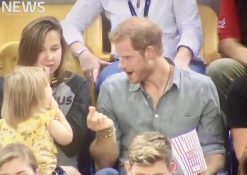 Prince Harry Has Fun With Toddler Who Takes His Popcorn At Invictus Games