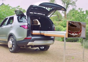 Jamie Oliver Jaguar Land Rover Create Kitchen on Wheels
