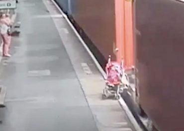 Rail Safety: Buggy Smashed By Freight Train