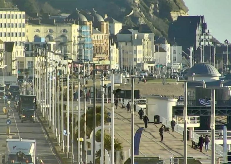 Hastings Pier and English Channel LIVE HD