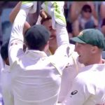 Australia celebrating