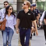 Harry and Meghan in public