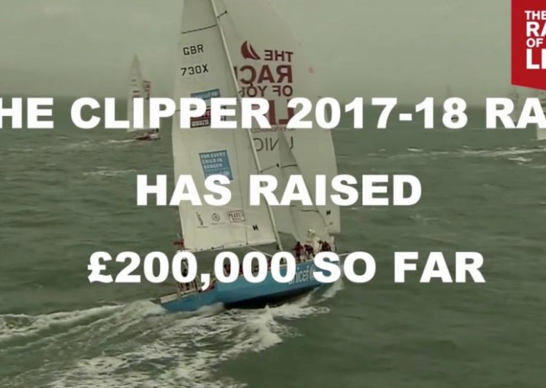 Clipper 2017-18 Race Half Way to £400k for Unicef