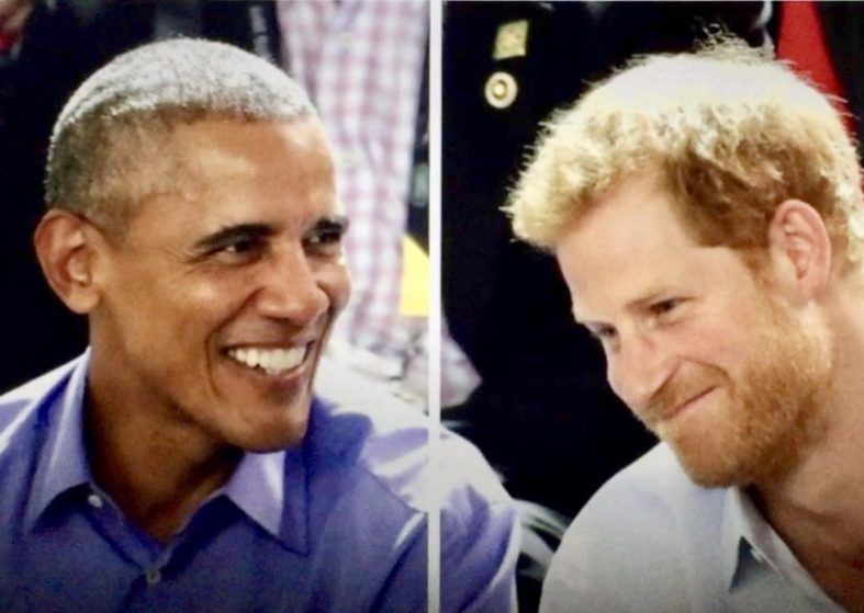 Prince Harry Grills Barack Obama