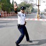 Moonwalking Traffic Cop