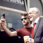Labour leader loves selfies