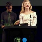 Natalie Dormer and Letitia Wright