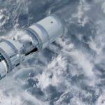 damaged spacecraft