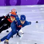Elise Christie well ahead