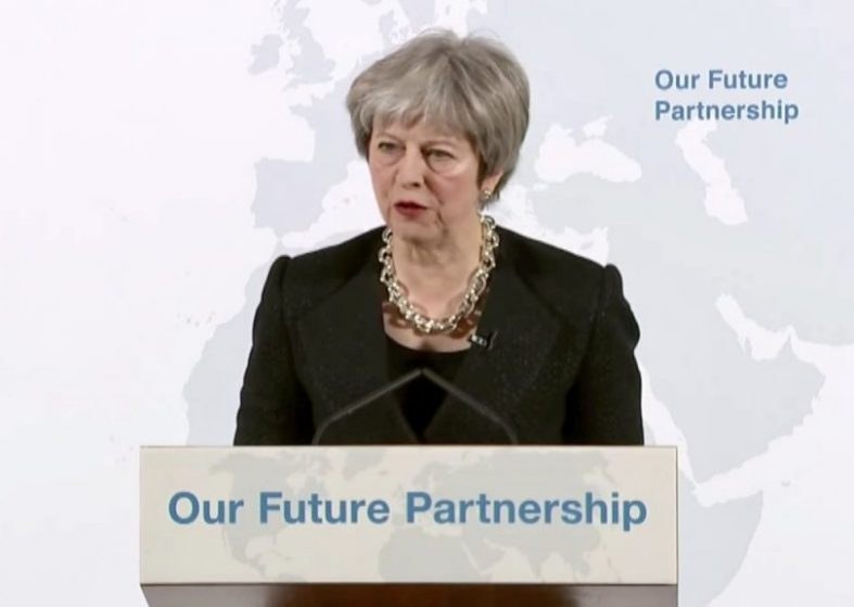 Theresa May Speech on UK Tests for Brexit Deal