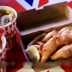 fish and chips and pimms