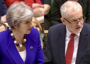 May and Corbyn clash in PMQs
