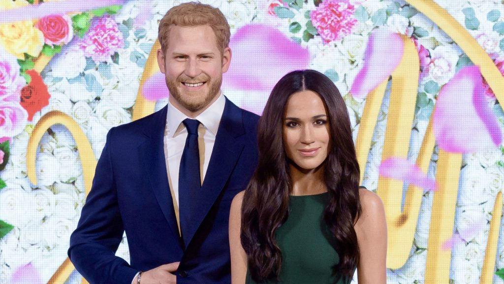 Meghan Markle Joins Prince Harry at Madame Tussauds