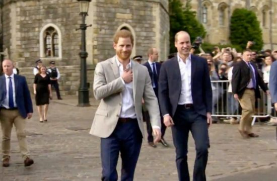 Royal Brothers Meet Windsor Crowd