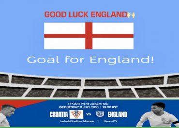 England v Croatia World Cup 2018