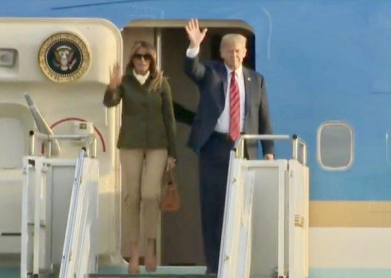 Donald Trump and Melania in Scotland