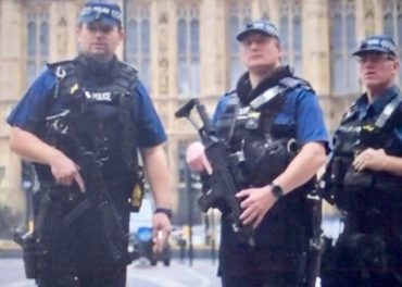 Armed Police at Westminster Crash Site