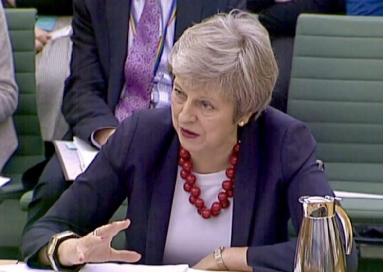 Brexit: Theresa May Gives Evidence Select Committee