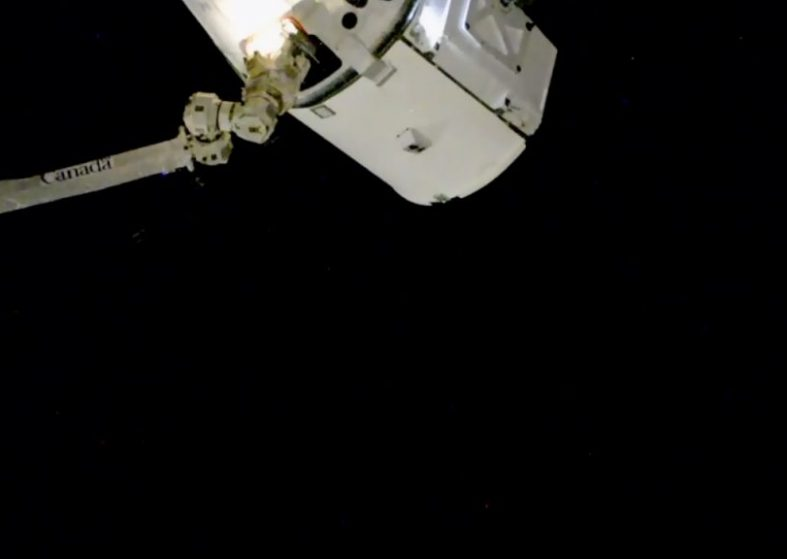 Dragon connected with ISS