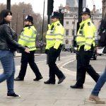 police monitoring protestors