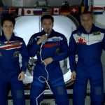 big welcome from ISS crew