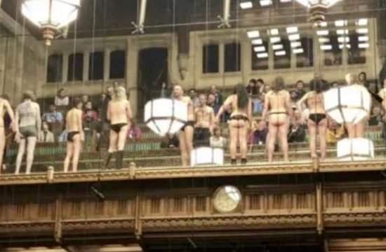 Half Naked Protesters Invade House of Commons