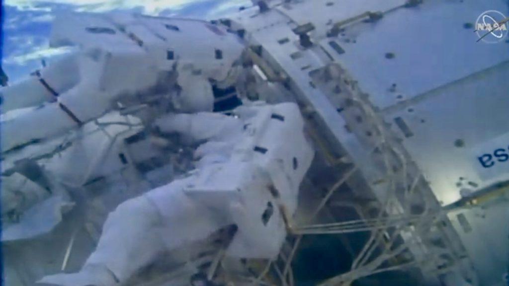 astronauts hard at work