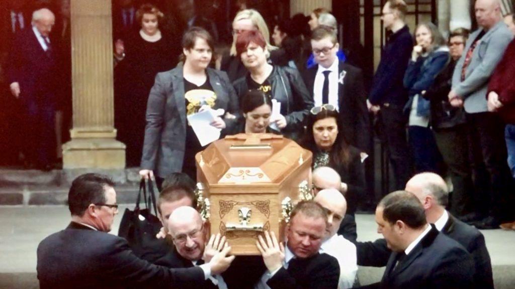McKee Funeral Priest Confronts Politicians
