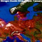 nitrogen dioxide in red