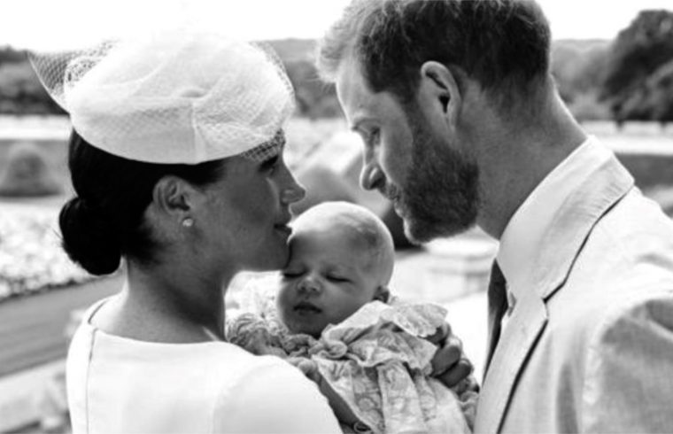 Harry and Meghan Christen Archie in Private