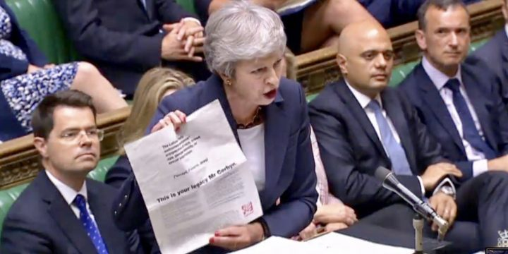 PMQs Almost Last Before End for Theresa May