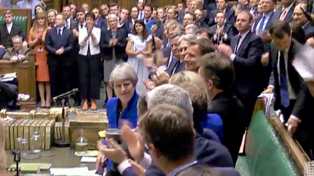 standing ovation for Theresa May